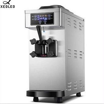 【送料無料!】アイスクリームメーカー 業務用 XEOLEO シングル ステンレススチール(ポンプ付)1100W 110v 60Hz 8L