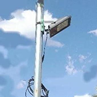 【送料無料!】ソーラーLEDライト 朝まで明るい常夜灯私道・駐車場灯 GN500G-6W-450L【新品】