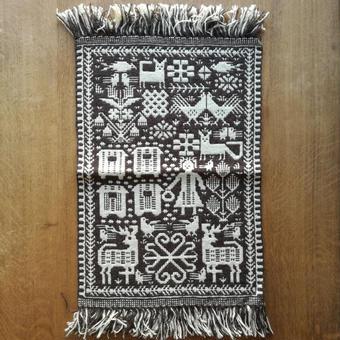 ヤノフ村の織物 タペストリー 養蜂と森の動物 #496