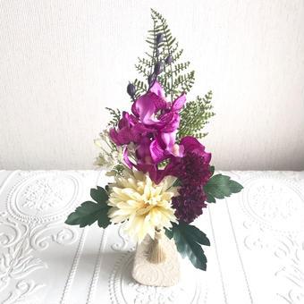 *新色 お供え花【モダン 仏花】優雅ボルドー&クリーム *プレミアム舞花B26