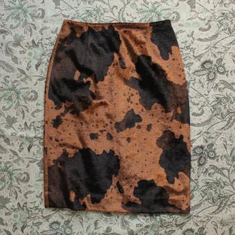 animal velours skirt