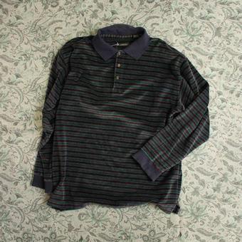 velours long polo shirt