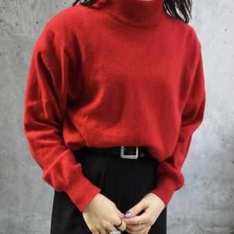 cashmere 100% highneck sweater