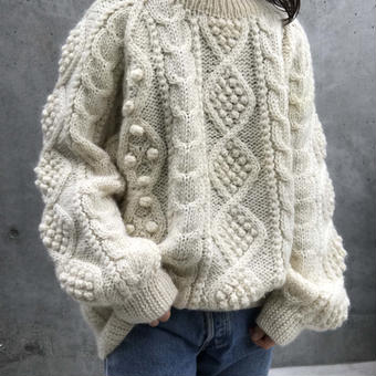 wool  cable sweater