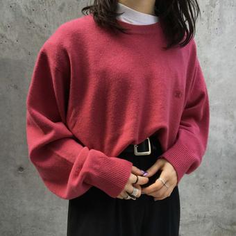 deep pink sweater