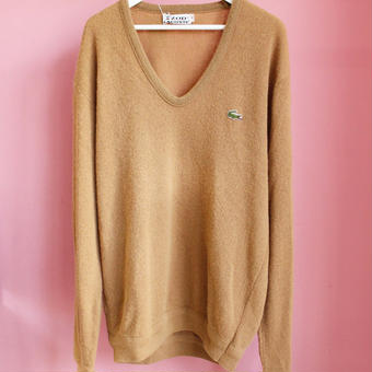 【lacoste】v neck sweater