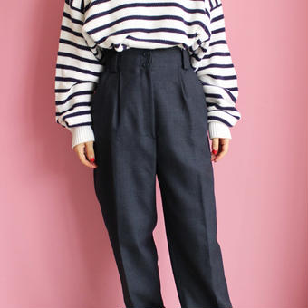 high-waist tuck pants