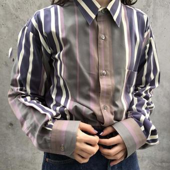 dusty color mulch stripe  shirt