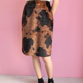 animal fur skirt