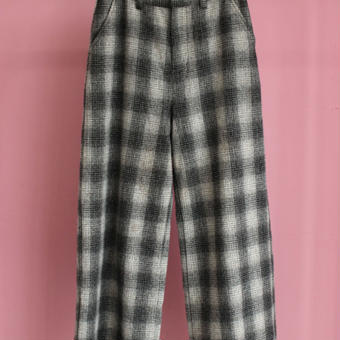 【x girl】straight check pants