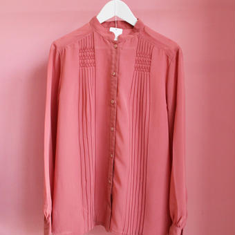 pink  beads blouse