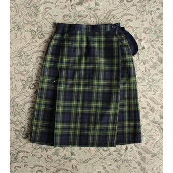 reversible check skirt