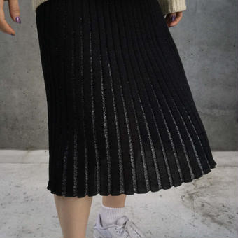 rame pleats knit skirt