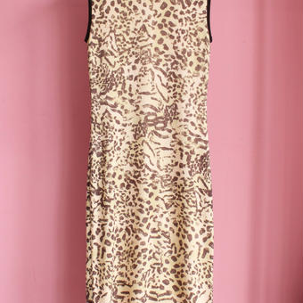 leopard knit one-piece
