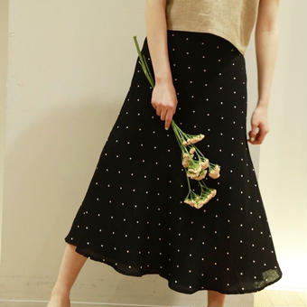 mermaid dot skirt