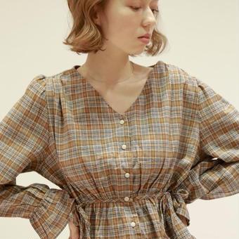marque  check  blouse