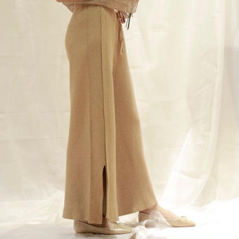 autumn slit knit pants