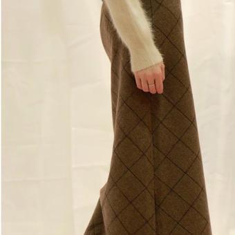 slit check skirt