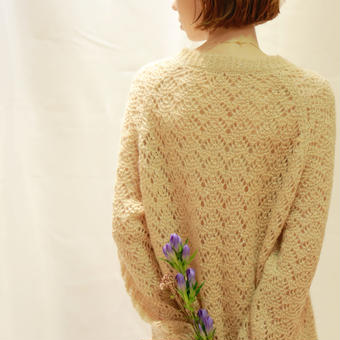 crochet lamé knit