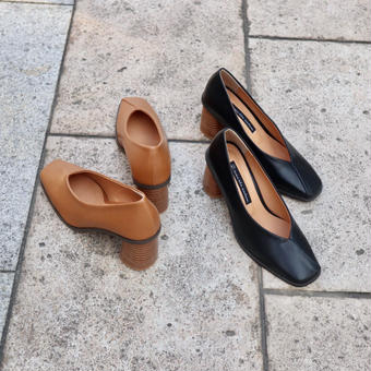 Talon épais pumps