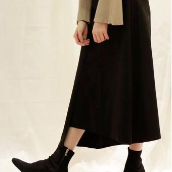 asymmetry suède skirt