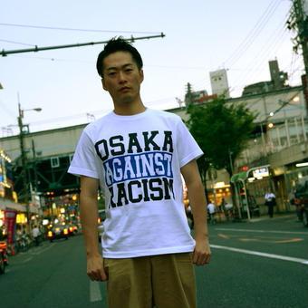 OSAKA AGAINST RACISM Tee (2013 edition blue) *仲パレカンパつき