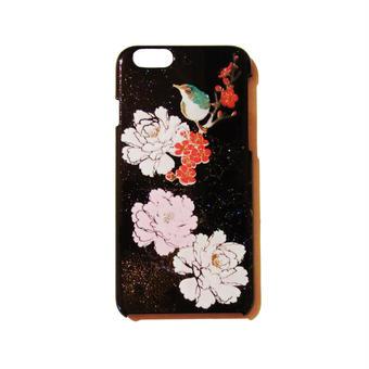 蒔絵iPhone6ケース 小鳥と牡丹