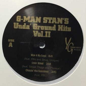 "(12"") G-MAN STAN'S Unda' Ground Hits Vol.Ⅱ <HIPHOP / G-RAP / 新品未開封>"