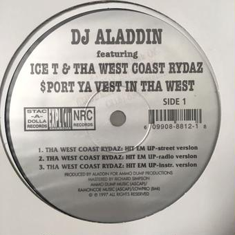 "(12""/新古) Dj Aladdin - Hit Em Up Feat. ICE-T & WestCoast Rydaz  <HIPHOP / G-RAP>"