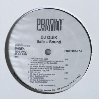 (2LP) DJ QUIK / Safe + Sound   <HIPHOP / G-RAP/新品デッドストック>