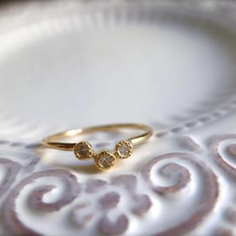 K18 diamond ring #add
