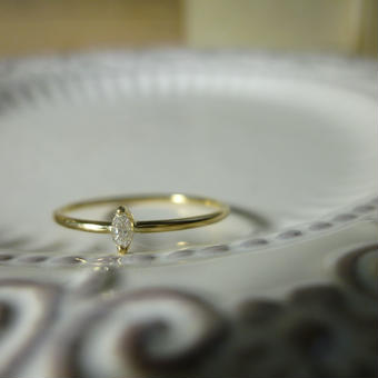 K18 diamond ring #003