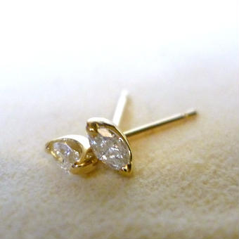 K18 diamond pierce #marquise