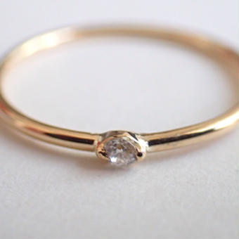 K18 diamond ring #002
