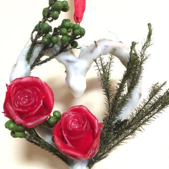 バレンタインハートリース アロマプレート