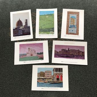 オリジナル・ポストカード6枚セット (イタリア風景)