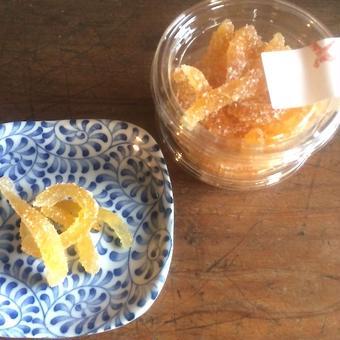 無農薬の柑橘で作ったピール《ゆず》
