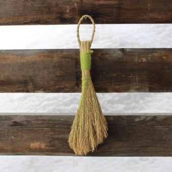 無肥料・無農薬 こだわりの稲わらを使った手作りほうき