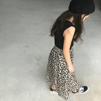 【予約】レオパードワンピース【KIDS】
