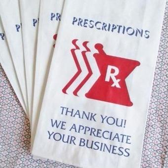 USA:薬屋さんの紙袋5枚セット