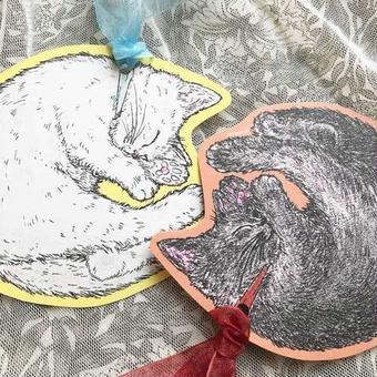 nemunoki:仔猫のリボンカード [nem-00070008]