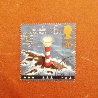 イギリス:消印あり 灯台の切手 1998年 [ws26]