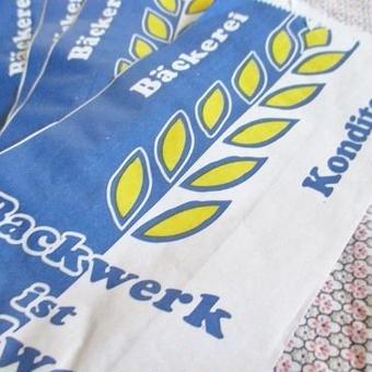 ドイツ:パン屋さんの紙袋5枚セット ライ麦