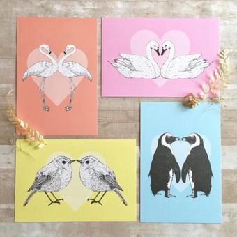 nemunoki:ハートと鳥たちのポストカード [P49-52]