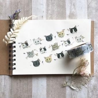 nemunoki:未来で出逢う猫 マスキングテープ [nem-0003]