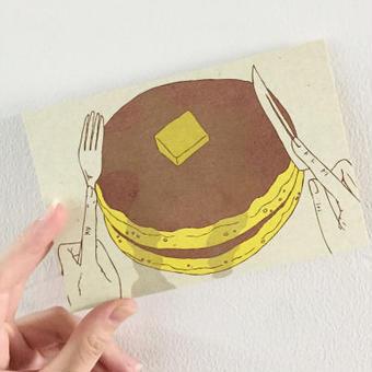 nemunoki:ホットケーキのポストーカード