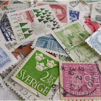 スウェーデン:使用済み切手20枚アソート