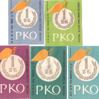 ポーランド:マッチラベル 5枚セット 1950〜60年代 [pml20]