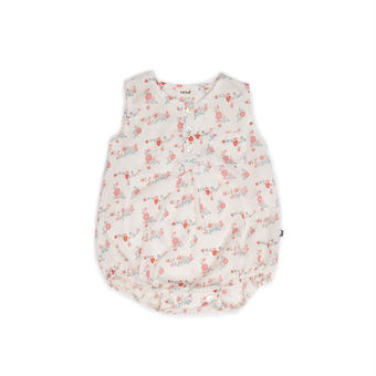 □【ouef】Button neck Rompers / Flowers