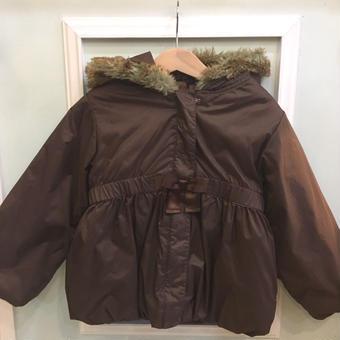 【USED】Waist gathered Brown coat